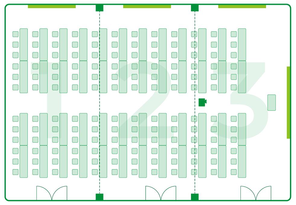 いわき 貸会議室 レンタルスペース 学びの杜グランディール ルームレイアウト ルーム1+2+3